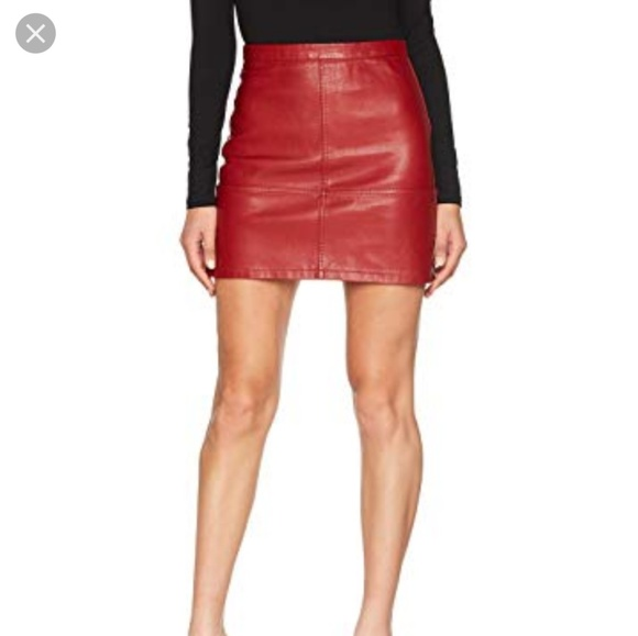 look for exquisite design cheaper Asos red leather mini skirt